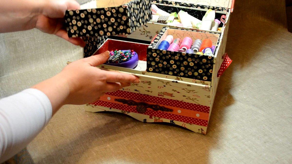 Шкатулка для косметики своими руками из картона мастер класс