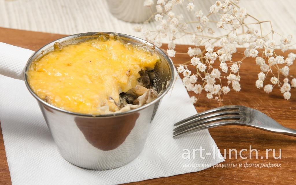 Жульен с грибами и курицей рецепт классический с пошагово