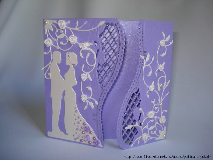 Шаблон открыток к свадьбе своими руками