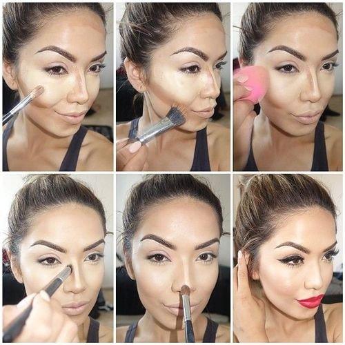 Фото как наносить макияж