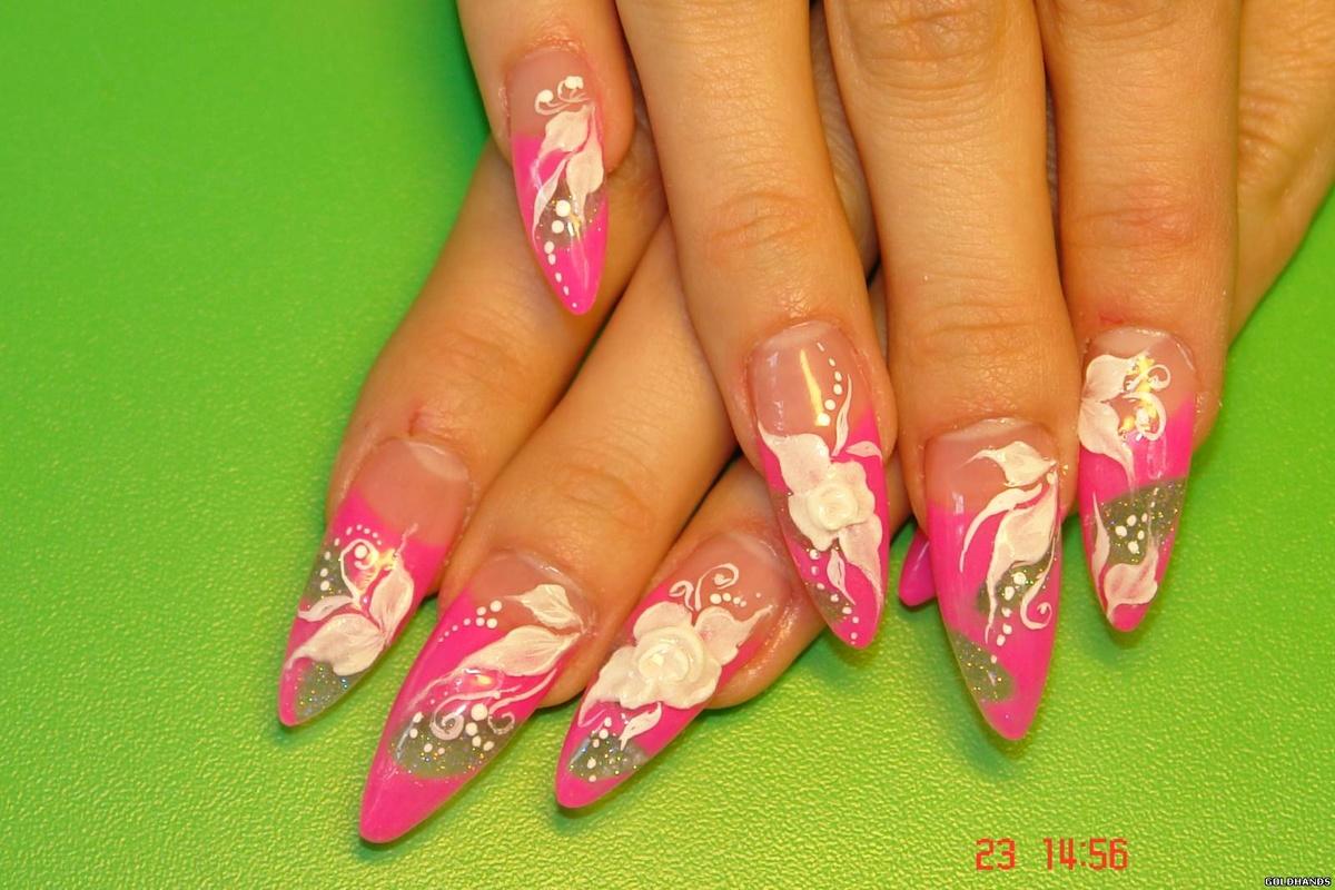 Акриловый дизайн ногтей весна фото