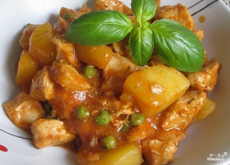 Рагу с мясом и картошкой пошаговый рецепт с