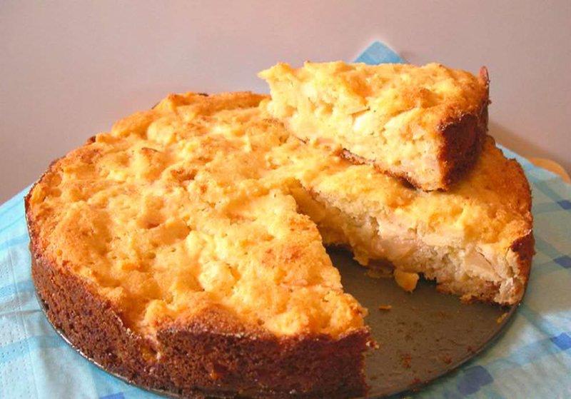 Рецепт шарлотка творожная с яблоками в духовке пошагово