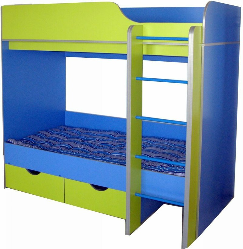 Детская кровать двухъярусная из дсп