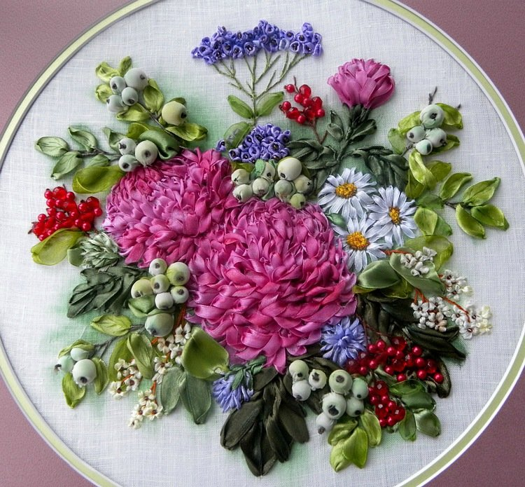 Вышивка атласными лентами не цветы 4