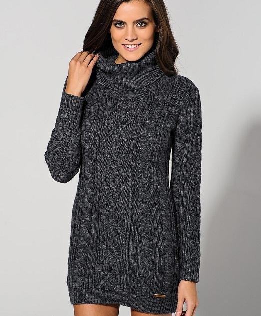 Вязание спицами туники платья зима 48