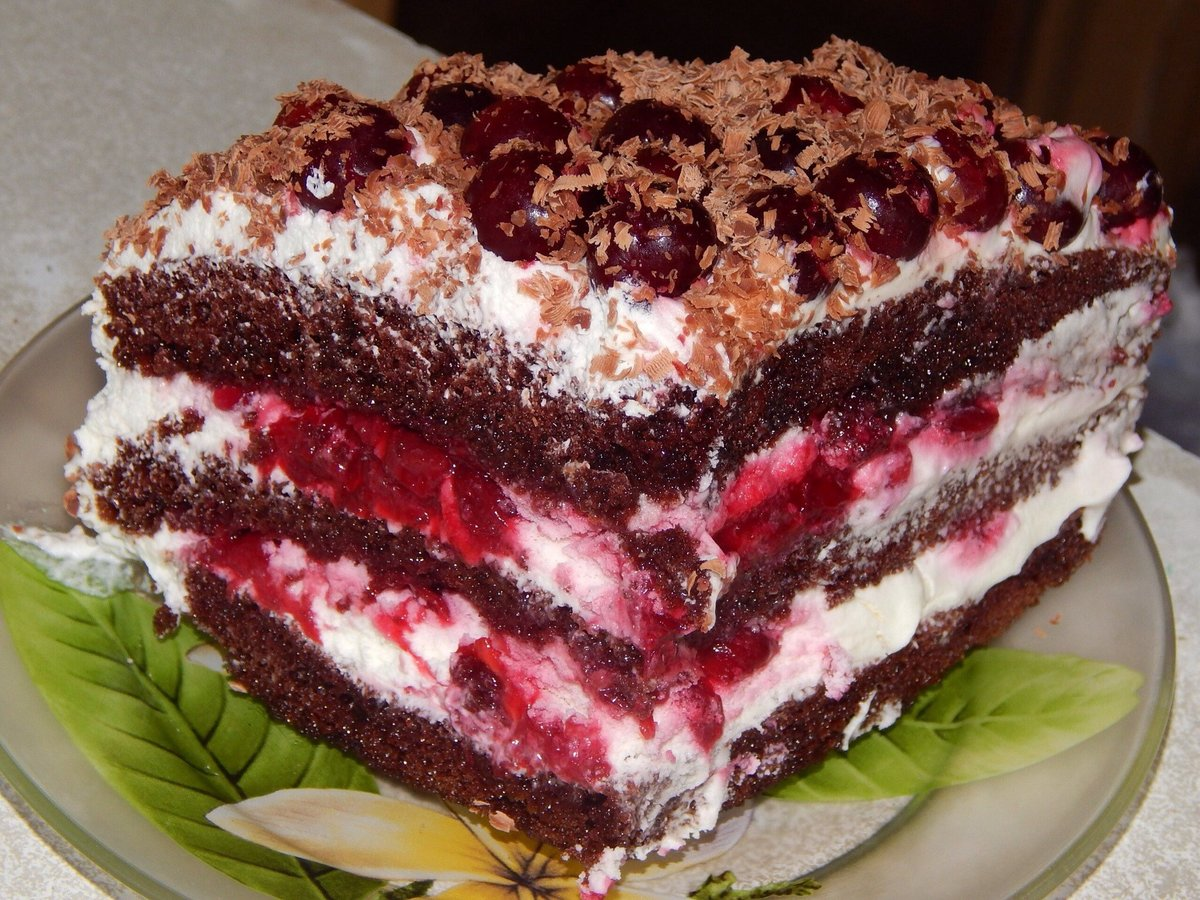 Торт черный лес пошаговым фото