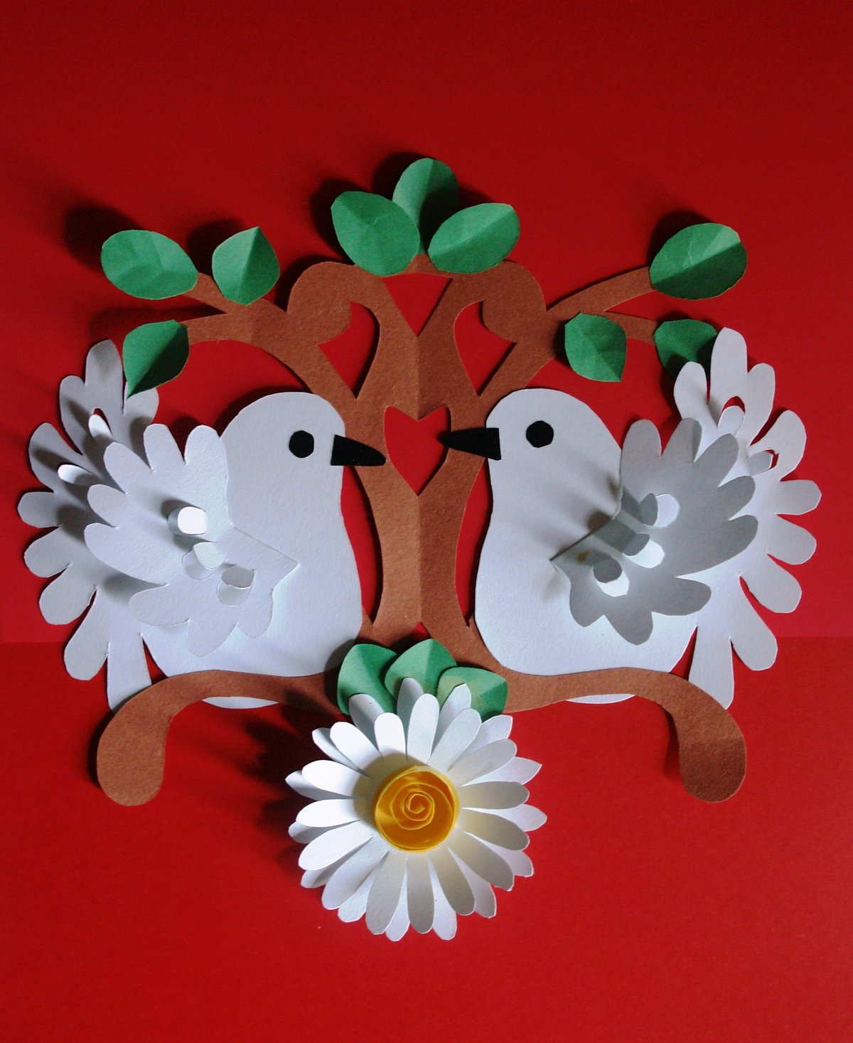 Поделки из квиллинга голубь