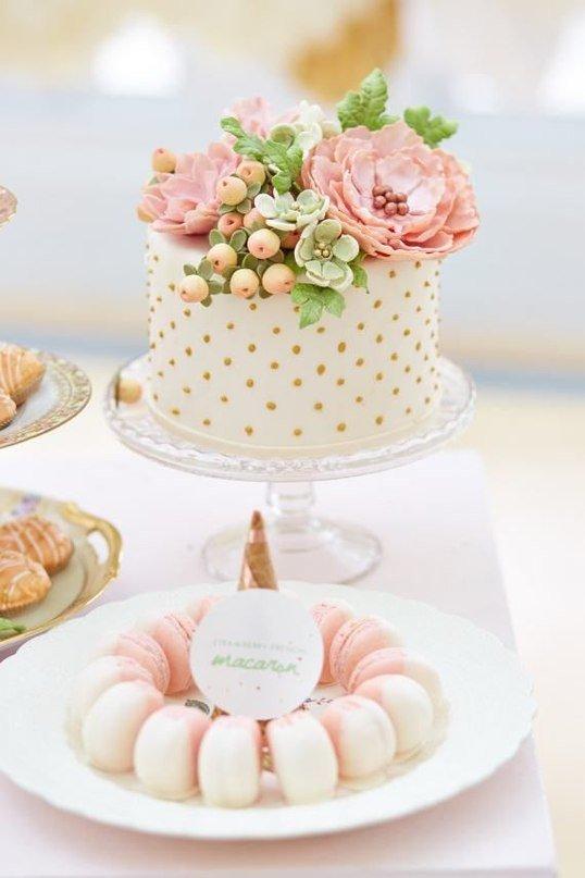 Нежные дизайны тортов