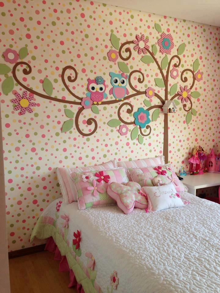 Дизайн стены своими руками в детской комнате 58