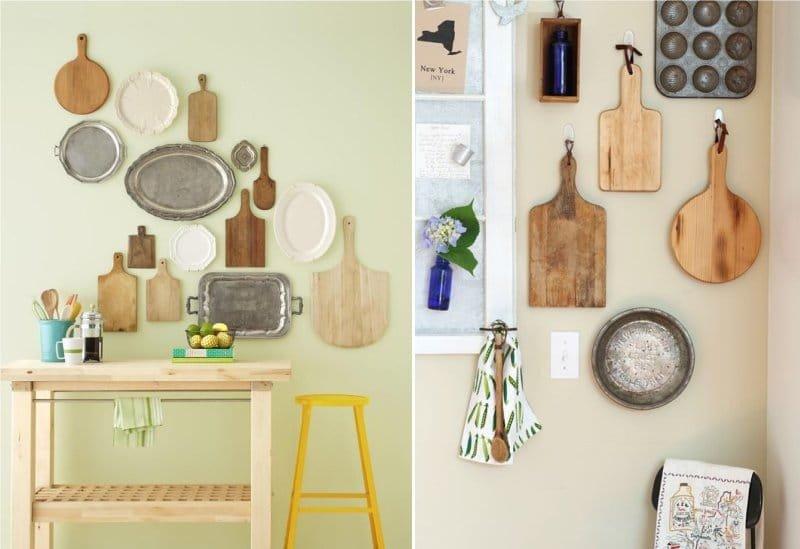 Идеи декорирования стен на кухне своими руками 55