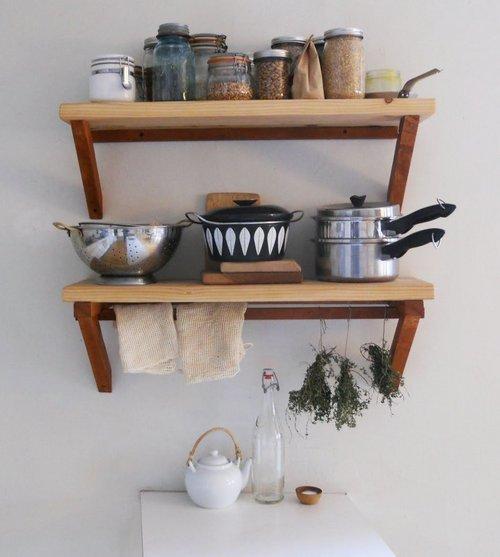 Полки на кухне своими руками фото 93