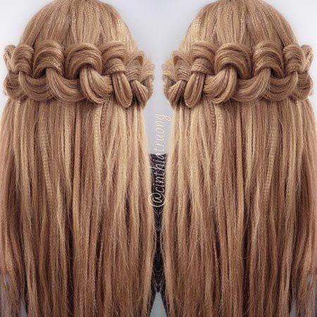 Прически легкие с гофре на длинные волосы