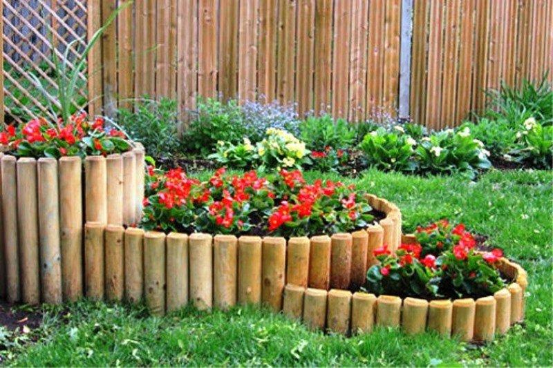 Сделать декоративный забор для клумбы своими руками
