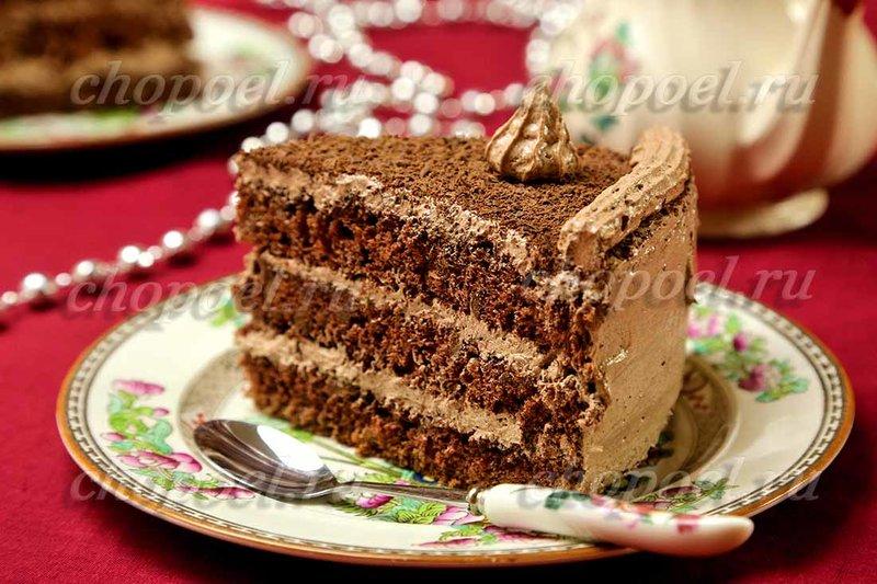 Бисквитный торт - фото