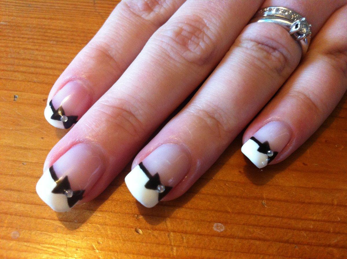 Шеллак фото дизайн ногтей черно белое