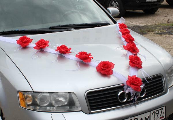 Сделать ленту на машину для свадьбы своими руками
