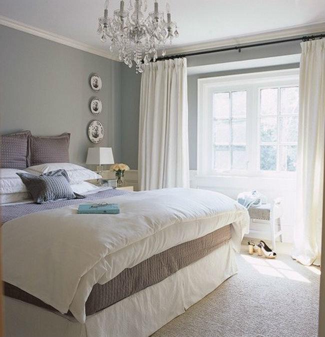 Фото дизайн спальни в серых тонах
