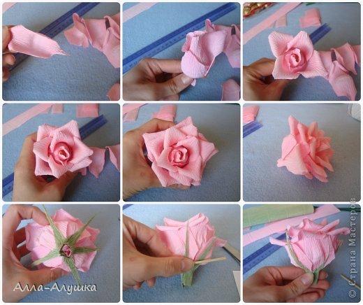 Как сделать розы с конфетами из бумаги