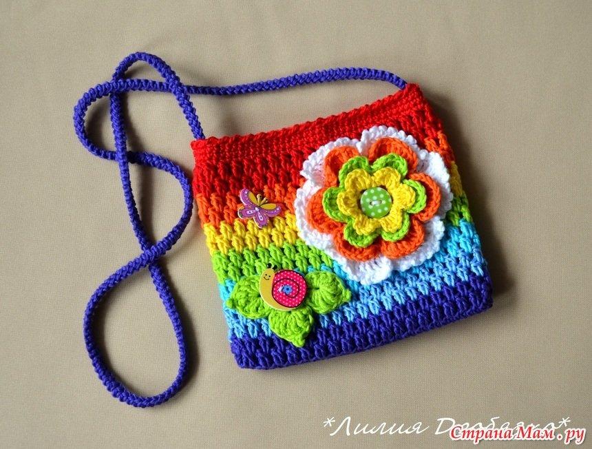 Вязание для девочек сумки 74