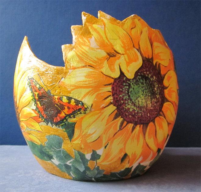 Напольная ваза из папье-маше своими руками