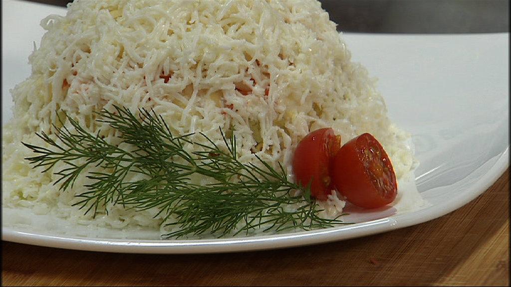 Фото салат сугроб рецепт с пошагово