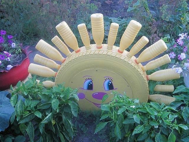 Украшения для сада из подручных материалов своими руками 878