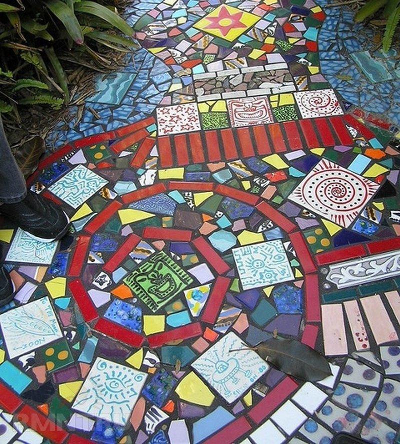 Дачная мозаика в саду своими руками 98