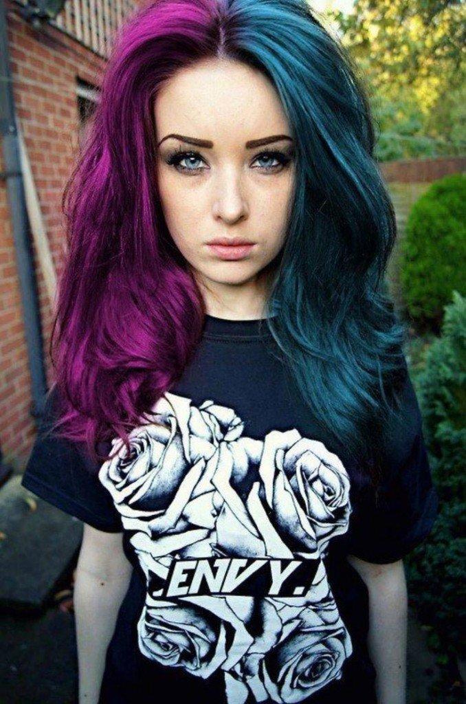 Как в два цвета покрасить волосы 2017