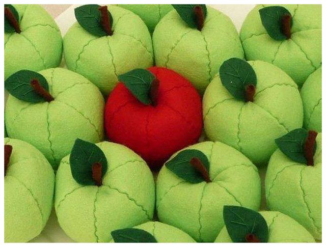 Поделки из ткани яблоко 5