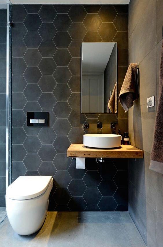 Ванная комната дизайн модная плитка маленькой ванны