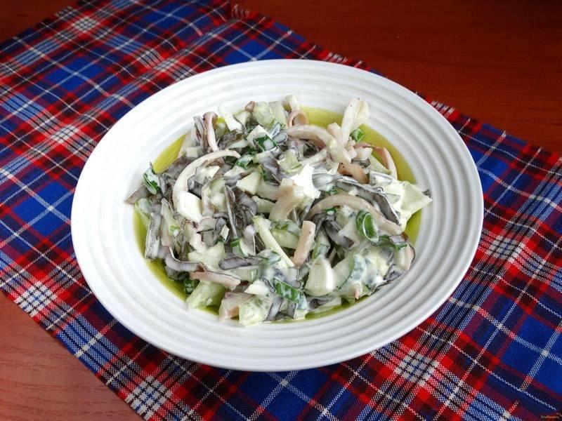 Рецепт салат капуста кальмары