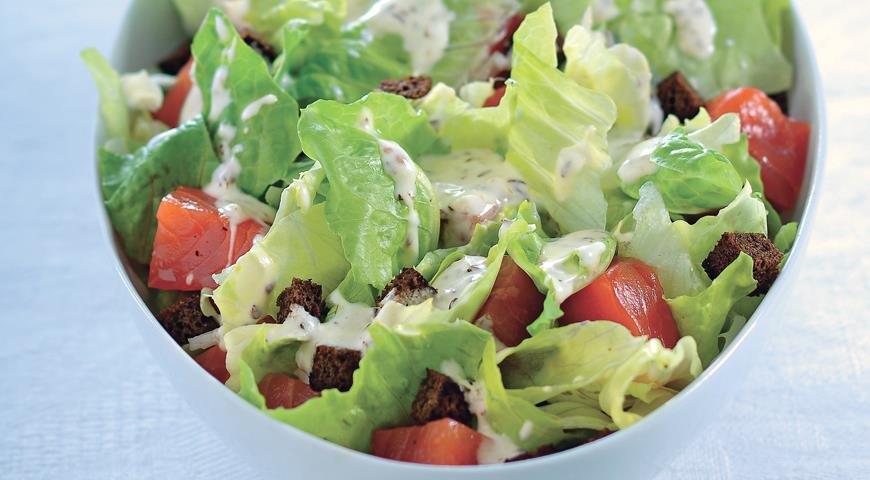 Рецепт салата из листьев салата пошагово