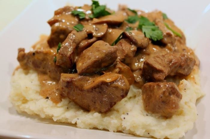 Мясо по строгановски в мультиварке рецепт с фото