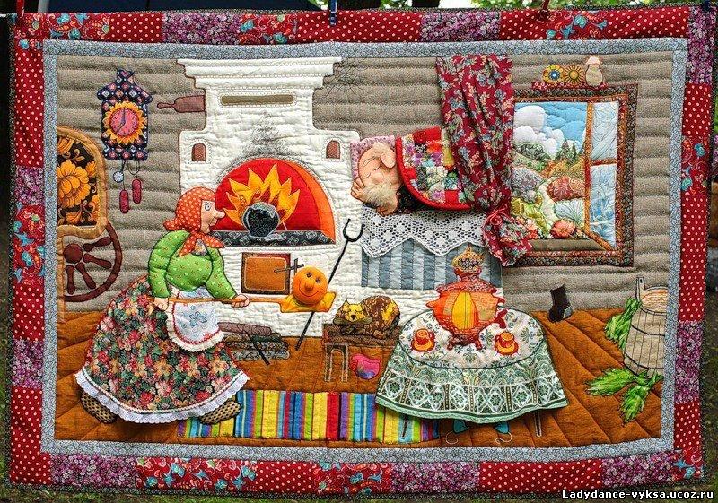 Вышивка на ткани для пэчворка 12