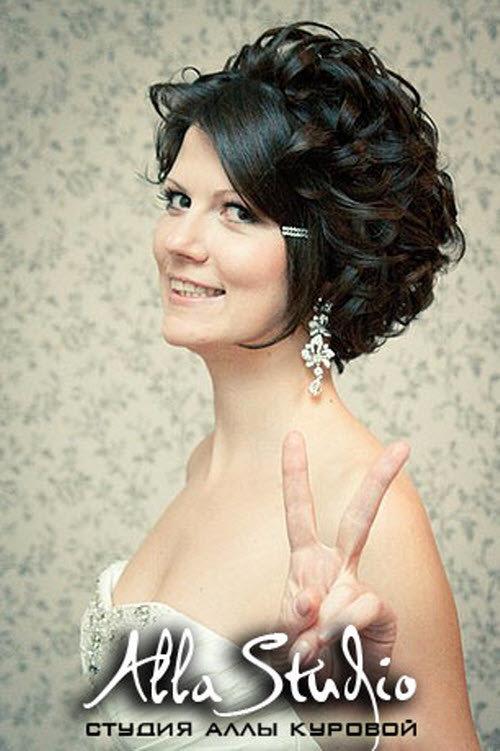 Как сделать свадебную причёску на короткий волос