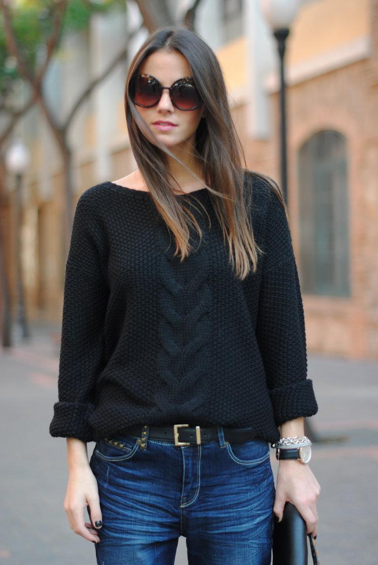 Вязание спицами стильного свитера 53