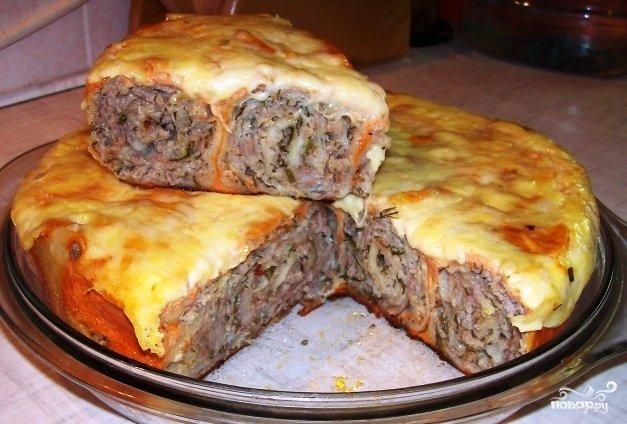 Пирог с мясом и сыром в мультиварке рецепты