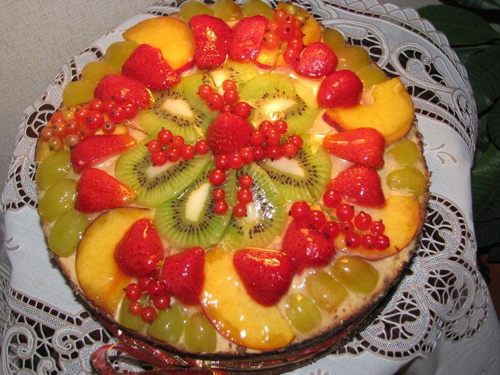 Детский торт с фруктами своими руками для девочки рецепт с фото пошагово
