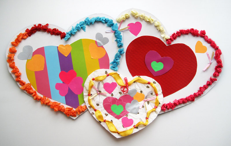 Валентинок картинки своими руками для детей