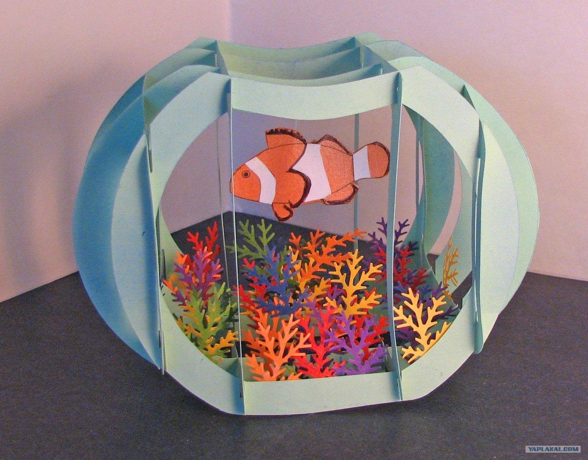 Как сделать аквариум из бумаге
