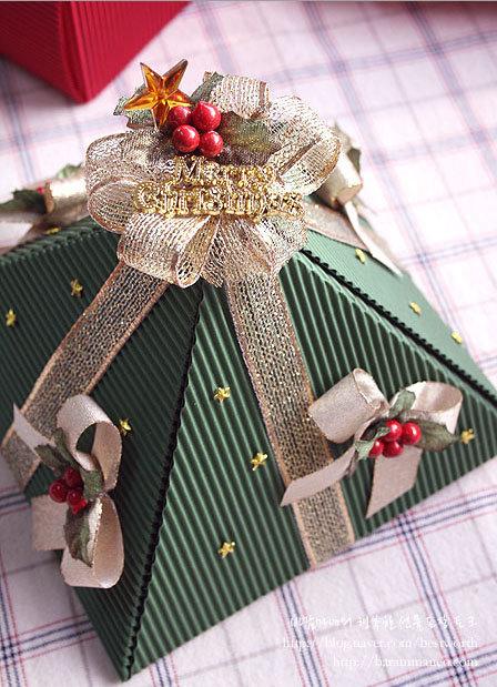 Рождественские упаковки своими руками