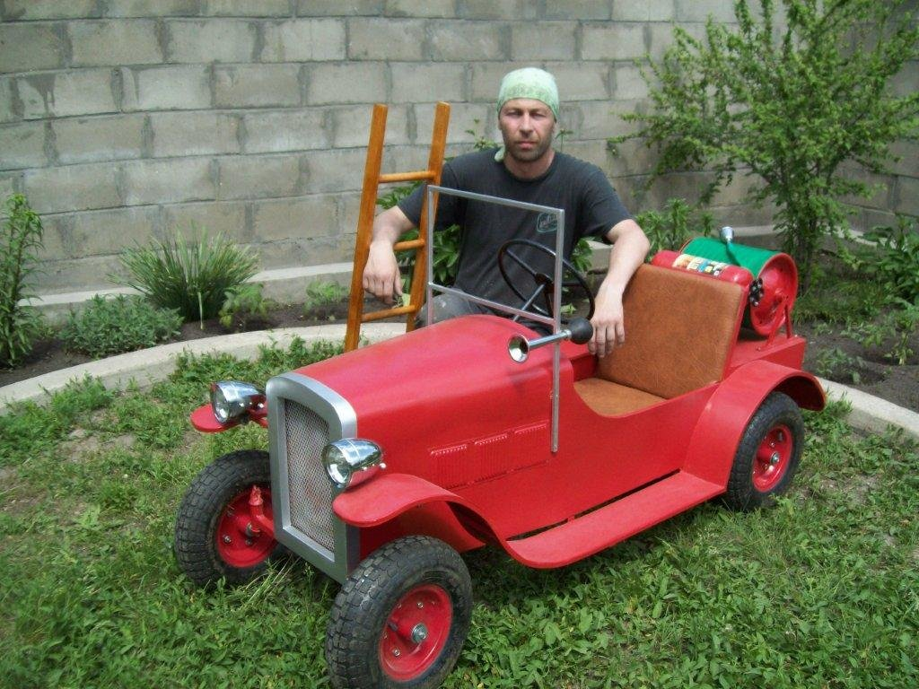 Детские бензиновые автомобили своими руками 44