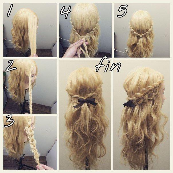 Лёгкие и быстрые прически на длинные волосы