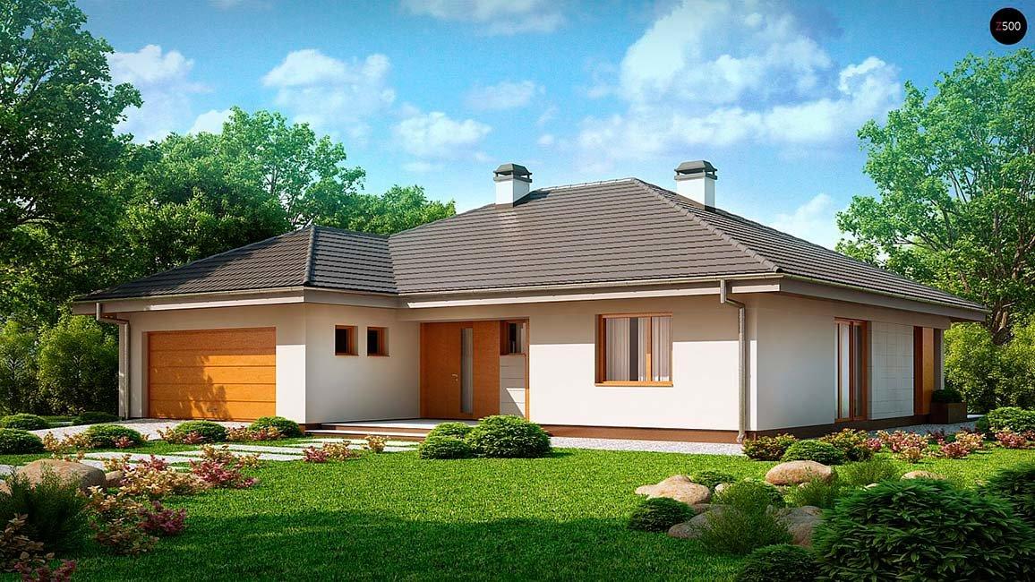 Проект дома со встроенным гаражом 190