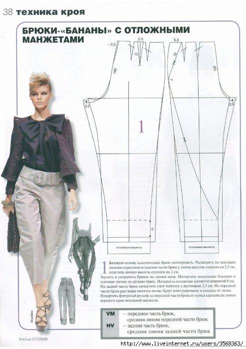 Как сшить красивые брюки женские 14