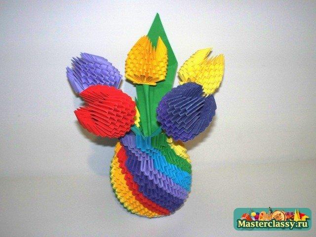 Модульное оригами ваза для начинающих пошаговое для начинающих