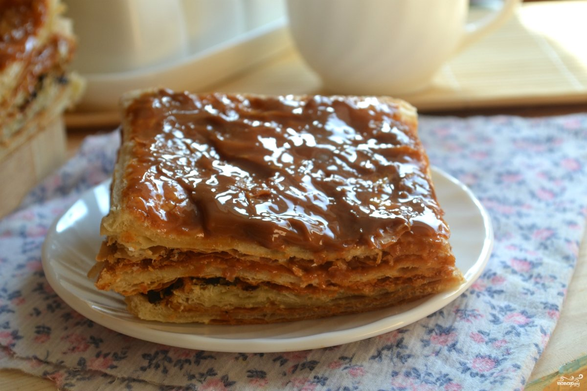 Торт слоёный пошаговый рецепт