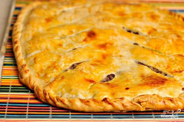 Быстрый пирог с фаршем и картошкой в духовке пошаговый рецепт с фото