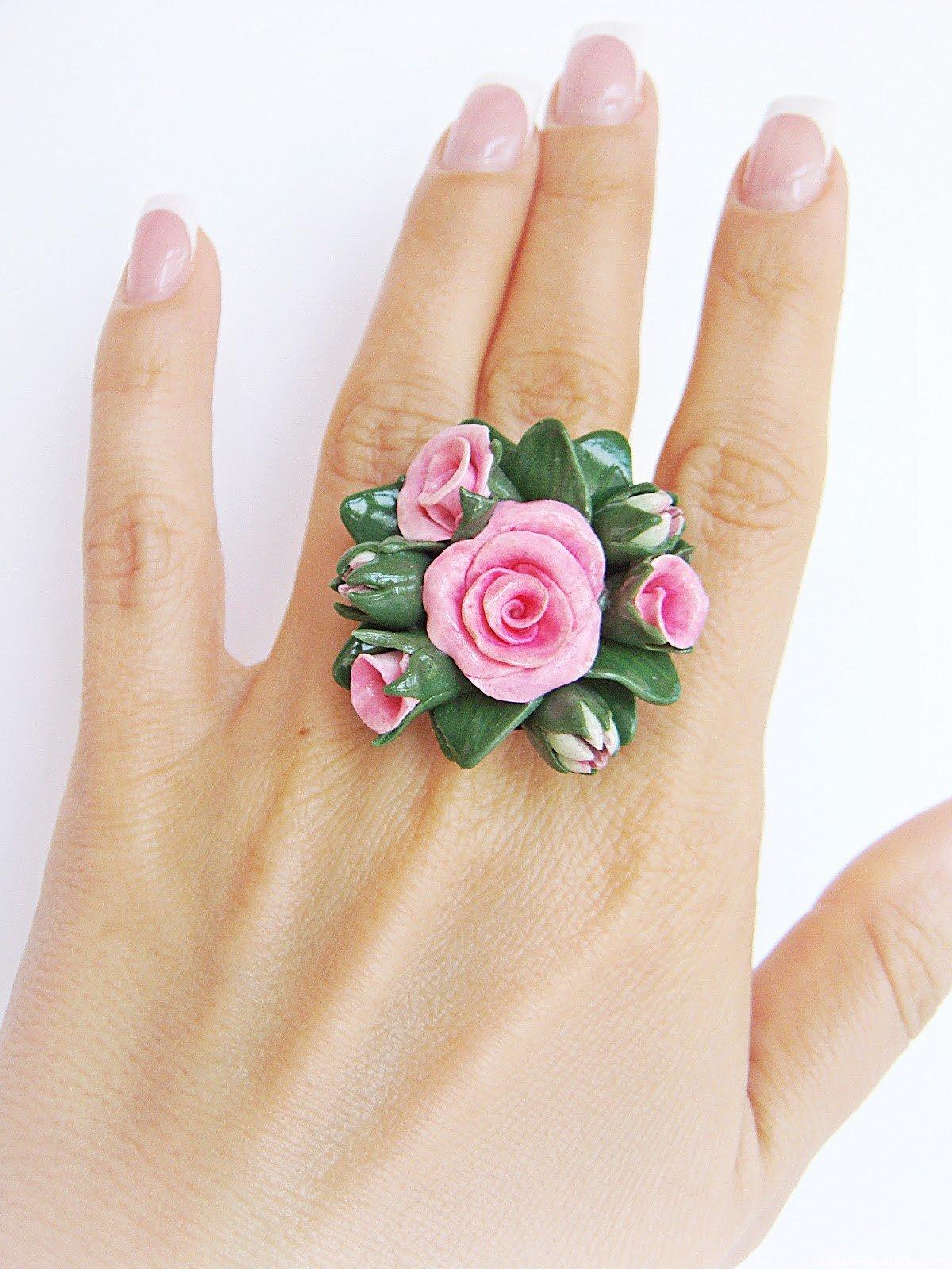 Как сделать кольца с цветком